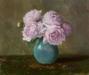 Peonies, 13.25x15, oil on linen © Nelia Harper
