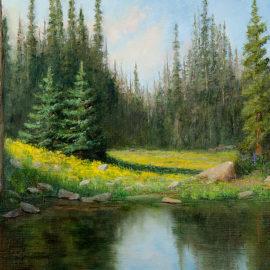 Reflections of You, 16x20, oil on canvas board, © Nelia Harper