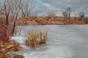 Winter Morn, 6x9, oil on board, © Nelia Harper