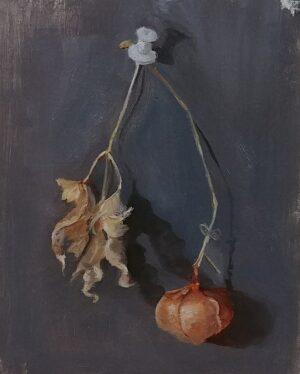 Love in a Puff, 5x4, oil on linen panel, © Nelia Harper