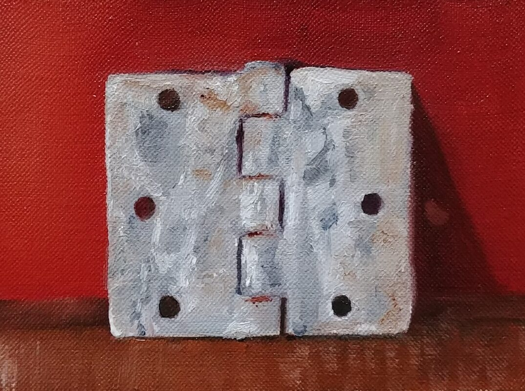 Weathered, oil on canvas board, 5.35 x 3.75, © Nelia Harper