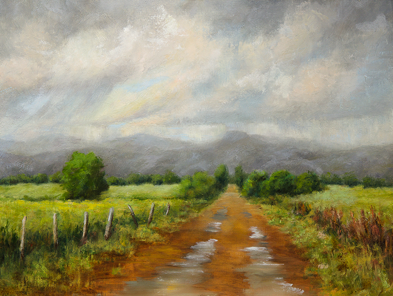 Road to Horsetooth Rock, 16x20, oil on linen panel, © Nelia Harper
