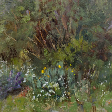 WIldflower Corner, 8x10, oil on linen panel, © Nelia Harper