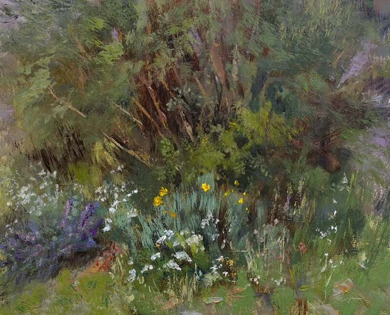 Wildflower Corner, 8x10, oil on linen panel, © Nelia Harper