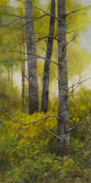 A Season of Change, 16x8, oil on linen panel, © Nelia Harper