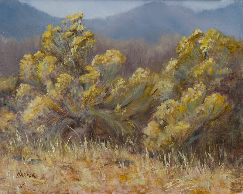 Blue and Gold, 8x10, oil on linen panel, © Nelia Harper