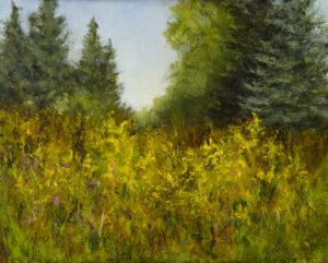 Goldenrod, 8x10, oil on linen panel, © Nelia Harper